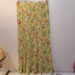 Long Spring Elastic Crinkle Skirt T7